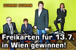 Freikarten gewinnen: Duran Duran in Wien!